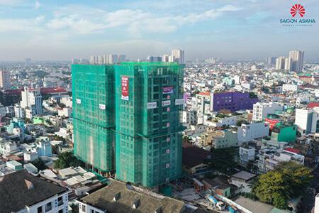 Công trình Saigon Asiana nhộn nhịp ngày đầu năm mới